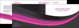 modele en ligne depliant 2 volets  4 pages  standard texture structure MLGI45901