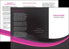 Commander Plaquette pub  modèle graphique pour devis d'imprimeur Dépliant 6 pages Pli roulé DL - Portrait (10x21cm lorsque fermé)