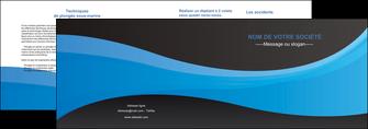 realiser depliant 2 volets  4 pages  texture contexture structure MIFCH46401