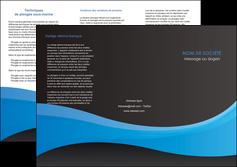 Impression menu depliant  papier à prix discount et format Dépliant 6 pages Pli roulé DL - Portrait (10x21cm lorsque fermé)