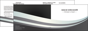imprimer depliant 2 volets  4 pages  standard texture abstrait MIF46497
