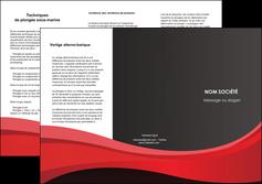 faire depliant 3 volets  6 pages  standard texture contexture MIF46557