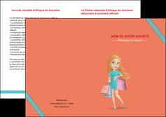 creer modele en ligne depliant 2 volets  4 pages  vetements et accessoires shopping magasin fille MLIG46701