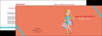 imprimerie depliant 2 volets  4 pages  vetements et accessoires shopping magasin fille MLIG46723