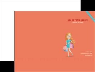 personnaliser maquette pochette a rabat vetements et accessoires shopping magasin fille MLIG46727