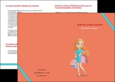 personnaliser modele de depliant 2 volets  4 pages  vetements et accessoires shopping magasin fille MLIG46735