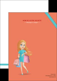 personnaliser modele de affiche vetements et accessoires shopping magasin fille MLIG46737