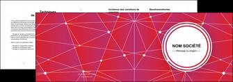 creer modele en ligne depliant 2 volets  4 pages  standard abstrait fond MIF46775
