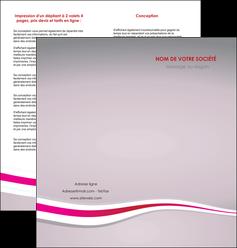 faire depliant 2 volets  4 pages  standard texture contexture MLGI46899