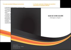 creer modele en ligne depliant 2 volets  4 pages  standard texture contexture MLIP46997