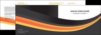impression depliant 2 volets  4 pages  standard texture contexture MIF47007