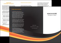 faire depliant 3 volets  6 pages  standard texture contexture MLIP47021