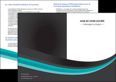 exemple depliant 2 volets  4 pages  standard texture contexture MIF47039