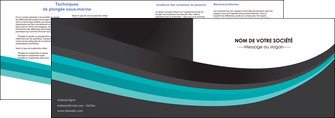 modele depliant 2 volets  4 pages  standard texture contexture MIF47053