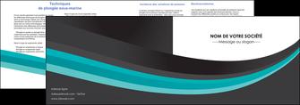 modele depliant 2 volets  4 pages  standard texture contexture MLIG47053
