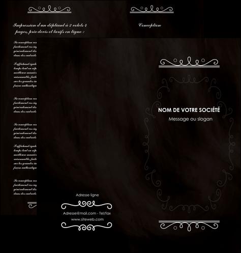 maquette en ligne a personnaliser depliant 2 volets  4 pages  texture contexture structure MLGI47083