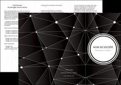 faire depliant 3 volets  6 pages  standard texture contexture MLIG47163