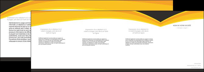 realiser depliant 4 volets  8 pages  standard texture contexture MLGI47269