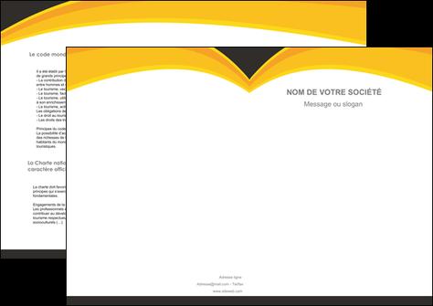 impression depliant 2 volets  4 pages  standard texture contexture MLGI47271