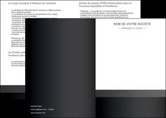 exemple depliant 2 volets  4 pages  standard texture contexture MLGI47353