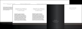 realiser depliant 4 volets  8 pages  standard texture contexture MLGI47363