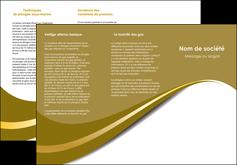 imprimer depliant 3 volets  6 pages  texture contexture structure MIF47741