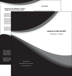faire depliant 2 volets  4 pages  texture contexture structure MIF47975
