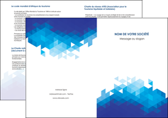 personnaliser maquette depliant 2 volets  4 pages  texture contexture structure MIF48191