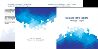 cree depliant 2 volets  4 pages  texture contexture structure MIF48201