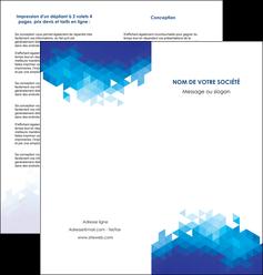 impression depliant 2 volets  4 pages  texture contexture structure MIF48203