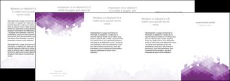 faire modele a imprimer depliant 4 volets  8 pages  texture contexture structure MIF48369