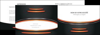 personnaliser maquette depliant 2 volets  4 pages  texture contexture structure MLGI49061