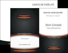 Commander imprimerie carte de visite avec vernis sélectif  Carte commerciale de fidélité modèle graphique pour devis d'imprimeur Carte de visite Double - Portrait