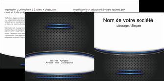 personnaliser modele de depliant 2 volets  4 pages  texture contexture structure MIF49089