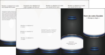 modele depliant 4 volets  8 pages  texture contexture structure MLIG49117