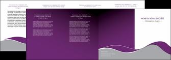 realiser depliant 4 volets  8 pages  texture contexture structure MLGI49331