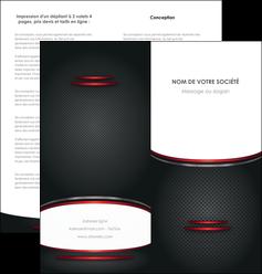 creation graphique en ligne depliant 2 volets  4 pages  texture contexture structure MIDCH49409