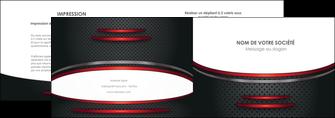 realiser depliant 2 volets  4 pages  texture contexture structure MIDCH49421