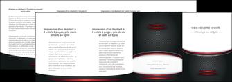faire depliant 4 volets  8 pages  texture contexture structure MIDCH49441