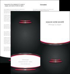modele en ligne depliant 2 volets  4 pages  texture contexture structure MIF49513