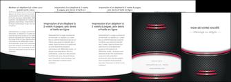 imprimer depliant 4 volets  8 pages  texture contexture structure MIF49545