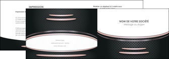 personnaliser modele de depliant 2 volets  4 pages  texture contexture structure MIF49903