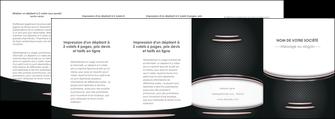 impression depliant 4 volets  8 pages  texture contexture structure MLGI49923