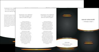 faire modele a imprimer depliant 4 volets  8 pages  texture contexture structure MIF49927