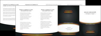 modele depliant 4 volets  8 pages  texture contexture structure MLIG49929