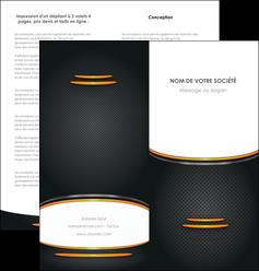 cree depliant 2 volets  4 pages  texture contexture structure MIF49943