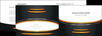 faire modele a imprimer depliant 2 volets  4 pages  texture contexture structure MIF49955
