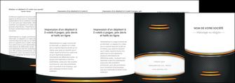 faire depliant 4 volets  8 pages  texture contexture structure MIF49975