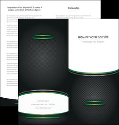 faire depliant 2 volets  4 pages  texture contexture structure MLIG49995