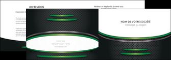 faire modele a imprimer depliant 2 volets  4 pages  texture contexture structure MLIG50007